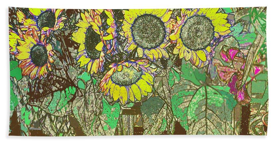 Flower Bath Sheet featuring the digital art Flower Market by Ian MacDonald