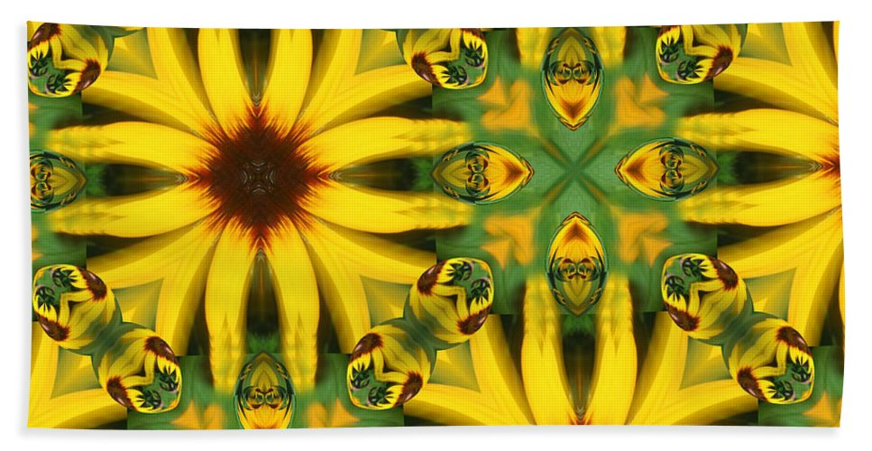 Flowers Bath Sheet featuring the digital art Flower Pattern by Linda Sannuti