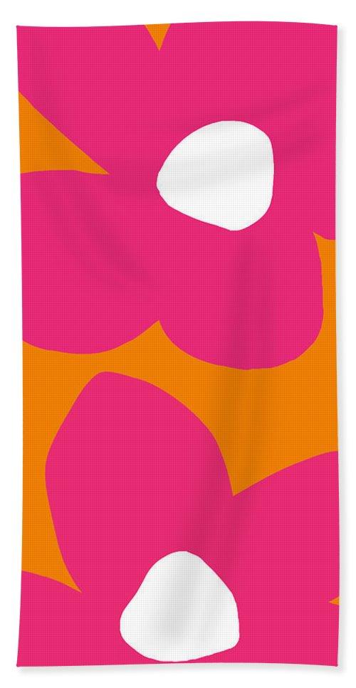 Flower Hand Towel featuring the digital art Flower Power 2- Art by Linda Woods by Linda Woods