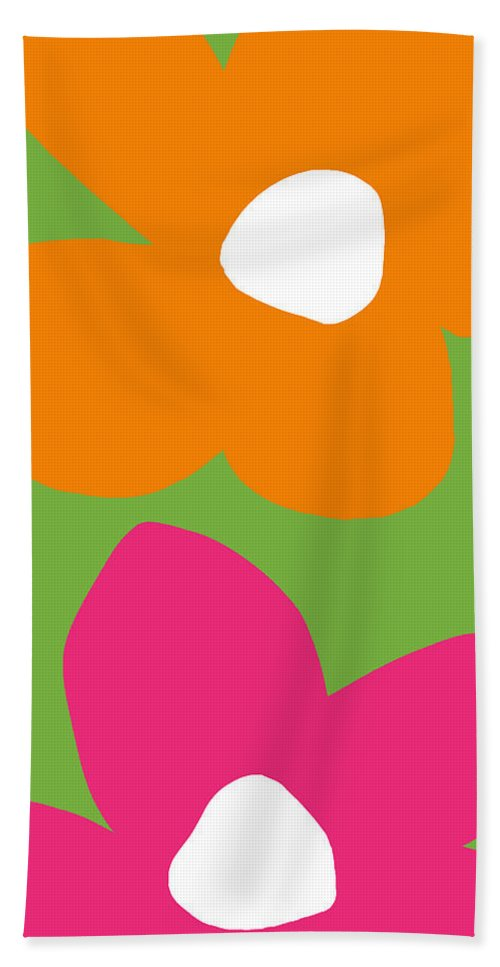 Flower Bath Towel featuring the digital art Flower Power 5- Art By Linda Woods by Linda Woods