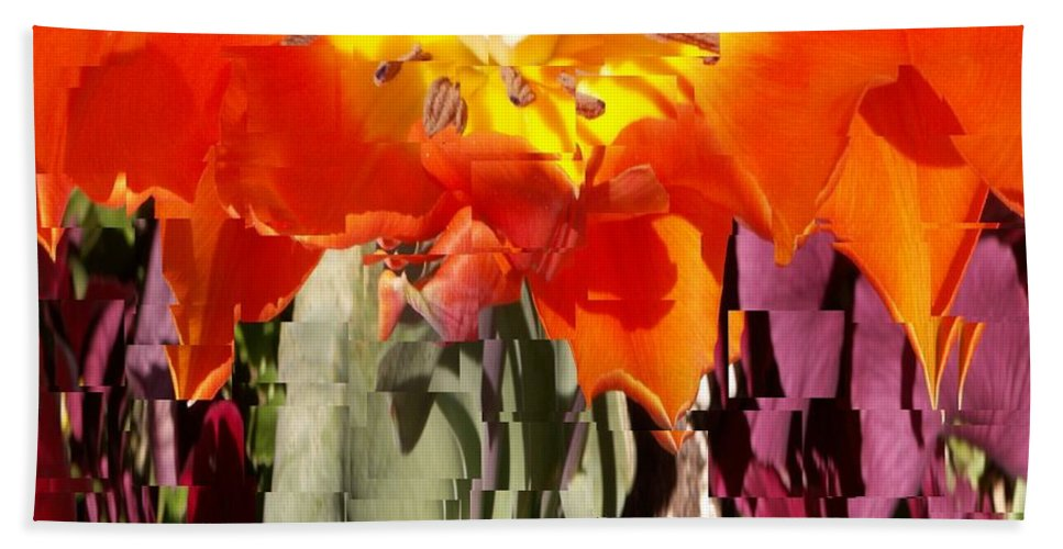 Flower Bath Towel featuring the photograph Flower by Tim Allen
