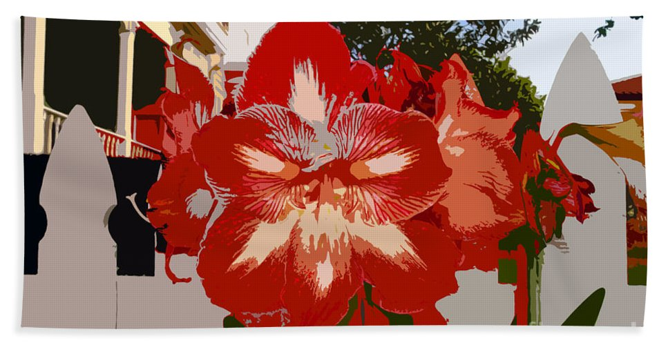 Flower Bath Towel featuring the photograph Flowering Backyard Work Number 33 by David Lee Thompson