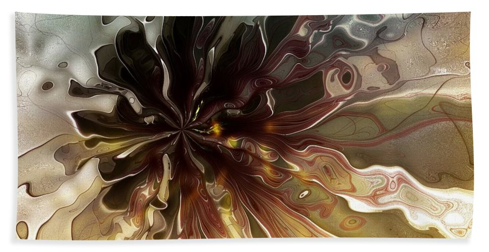 Fractal Hand Towel featuring the digital art Flowers 001 by Amanda Moore