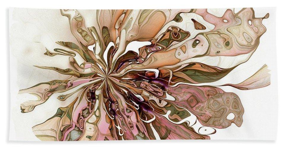 Fractal Hand Towel featuring the digital art Flowers 004 by Amanda Moore