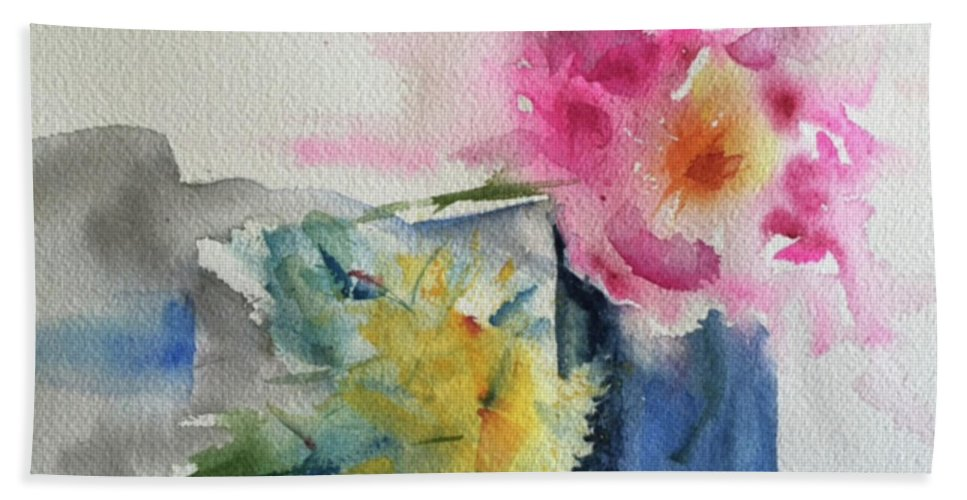Watercolor Bath Sheet featuring the painting Be Still by Bonny Butler