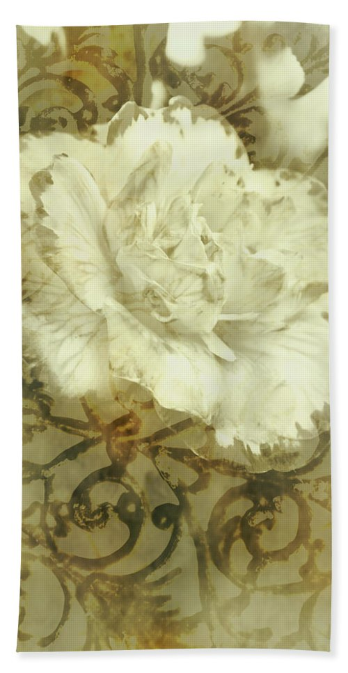 Flower Hand Towel featuring the photograph Flowers By The Window by Jorgo Photography - Wall Art Gallery