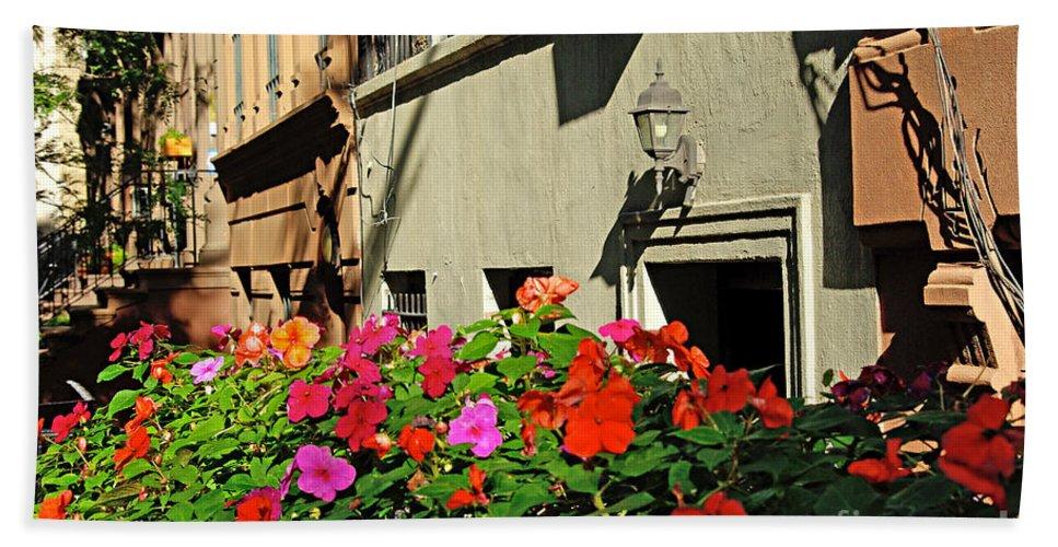 Flowers Bath Sheet featuring the photograph Upper West Side, New York by Zal Latzkovich