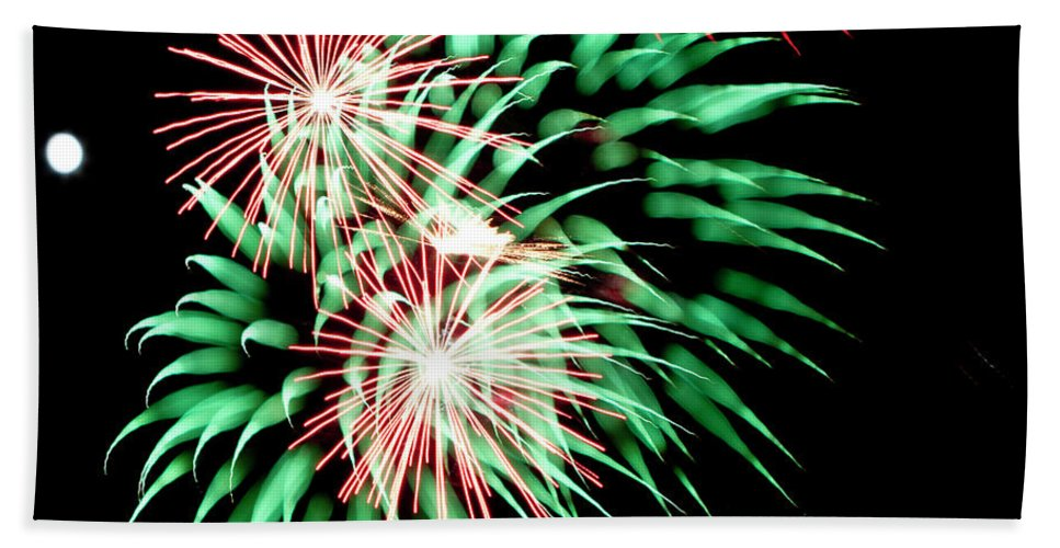 Fireworks Bath Sheet featuring the photograph Flowerworks #22 by Sandy Swanson