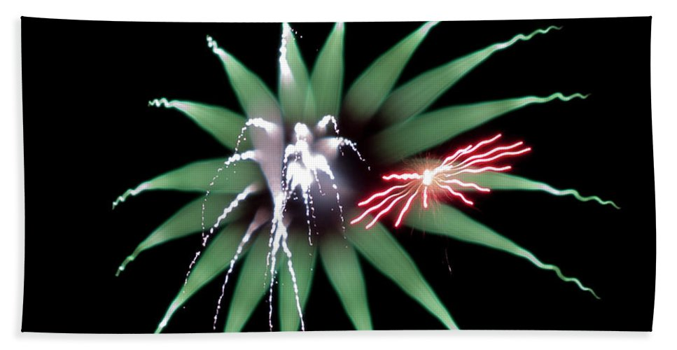 Fireworks Bath Sheet featuring the photograph Flowerworks #27 by Sandy Swanson