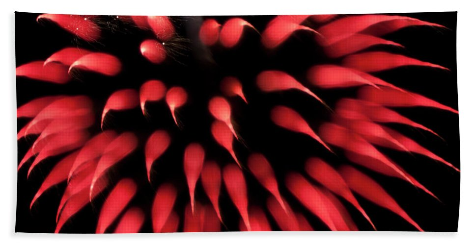 Fireworks Bath Sheet featuring the photograph Flowerworks #31 by Sandy Swanson
