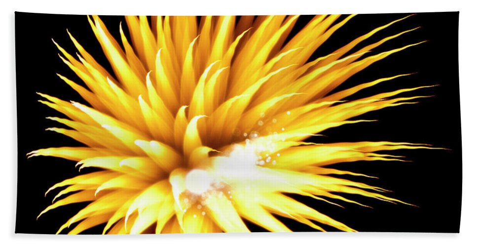 Fireworks Bath Sheet featuring the photograph Flowerworks #34 by Sandy Swanson