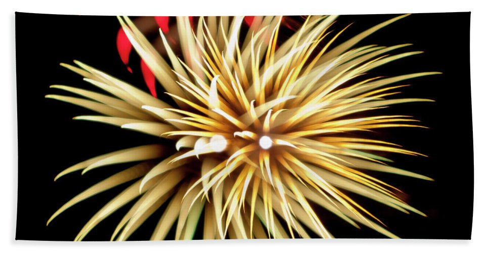 Fireworks Bath Sheet featuring the photograph Flowerworks #40 by Sandy Swanson