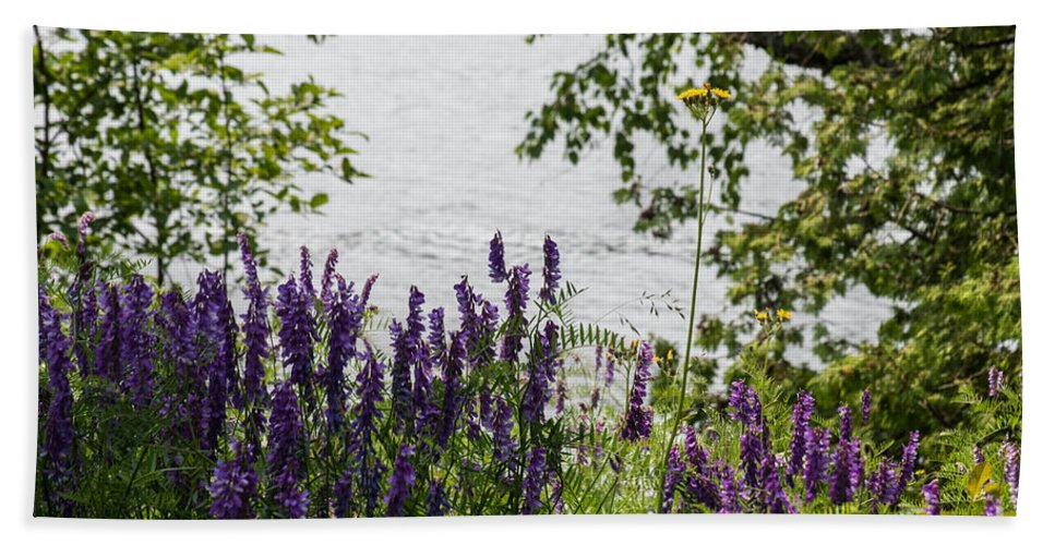 Beauty Bath Sheet featuring the photograph Flowing Beauty by Wesley Farnsworth
