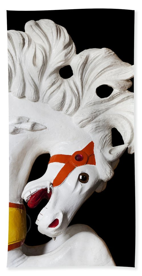 Carousel Hand Towel featuring the photograph Flowing Mane 2 by Kelley King