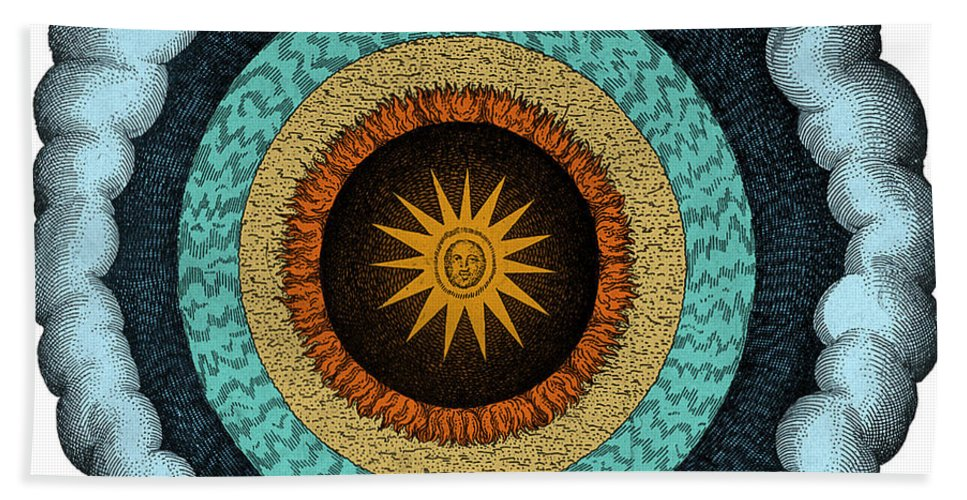 History Hand Towel featuring the photograph Fludds Cosmic Realms, 1617 by Science Source