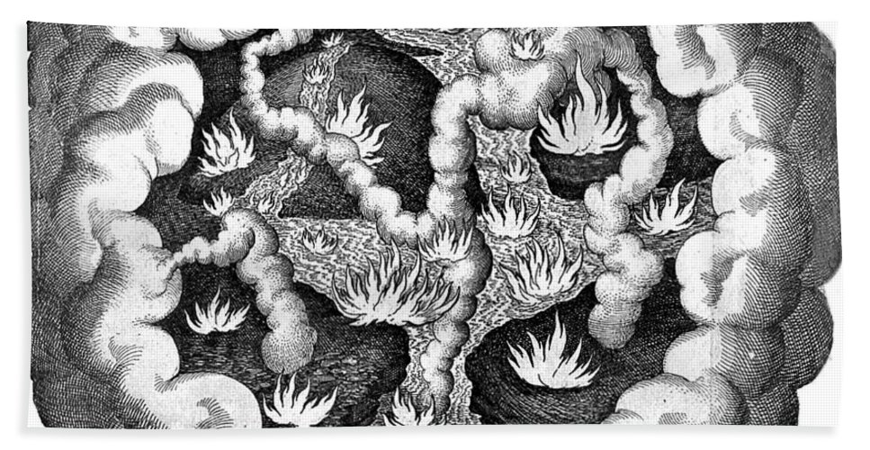 History Hand Towel featuring the photograph Fludds Primordial Fires, 1617 by Wellcome Images