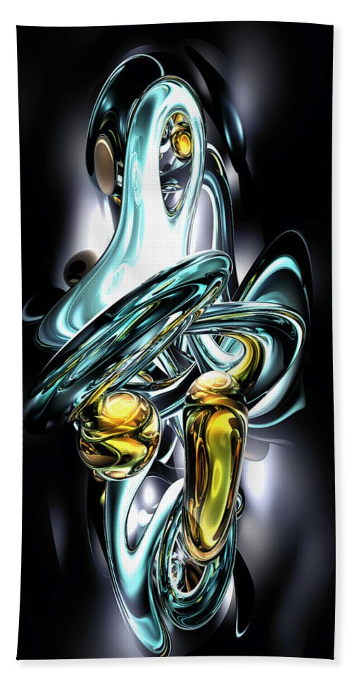 3d Hand Towel featuring the digital art Fluidity Abstract by Alexander Butler