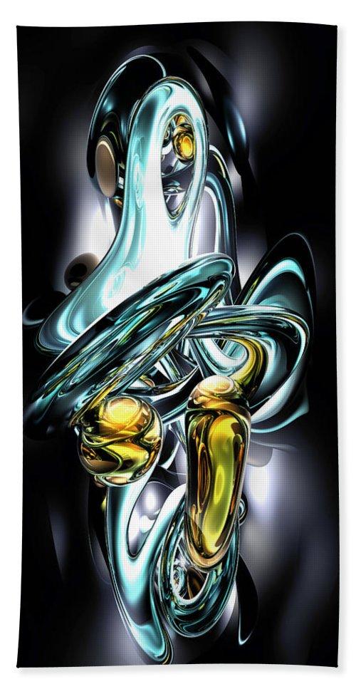 3d Bath Sheet featuring the digital art Fluidity Abstract by Alexander Butler