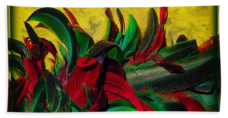 Feather Hand Towel featuring the photograph Flurry Of Feathers by Leslie Revels