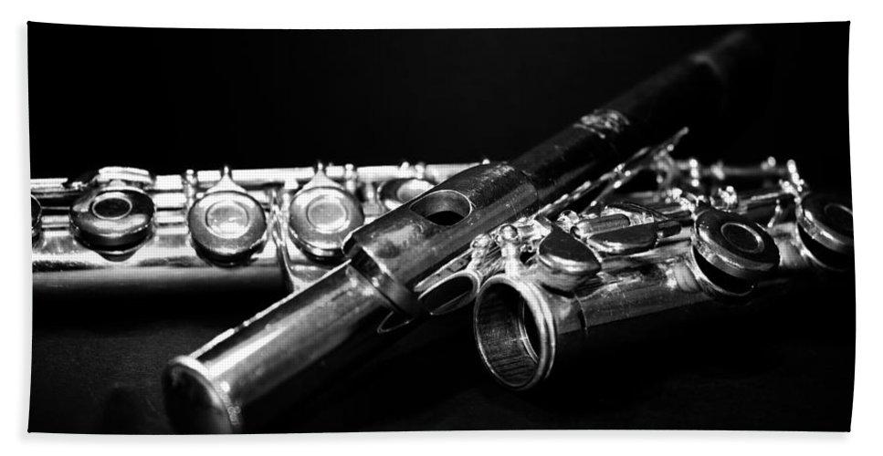 Lauren Radke Hand Towel featuring the photograph Flute Series I by Lauren Radke