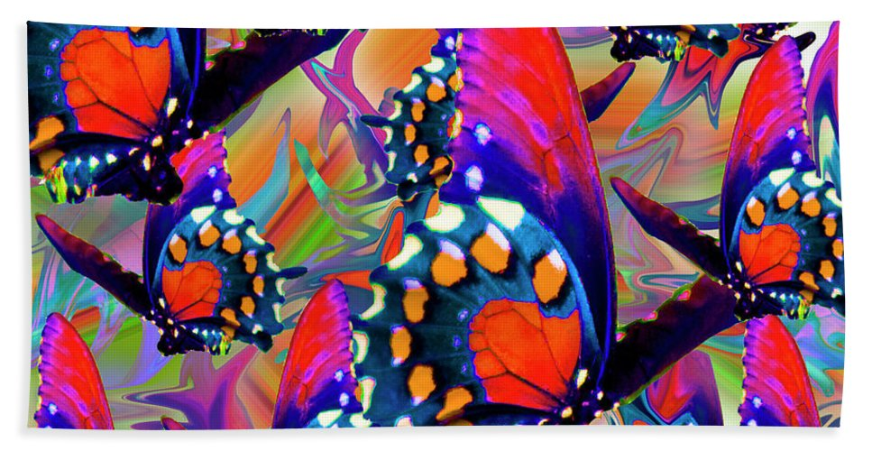 Butterfly Bath Sheet featuring the digital art Fly Away by Betsy Knapp