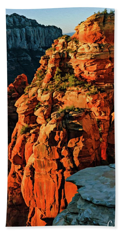 Arizona Hand Towel featuring the photograph Flying Buttress 06-034 by Scott McAllister