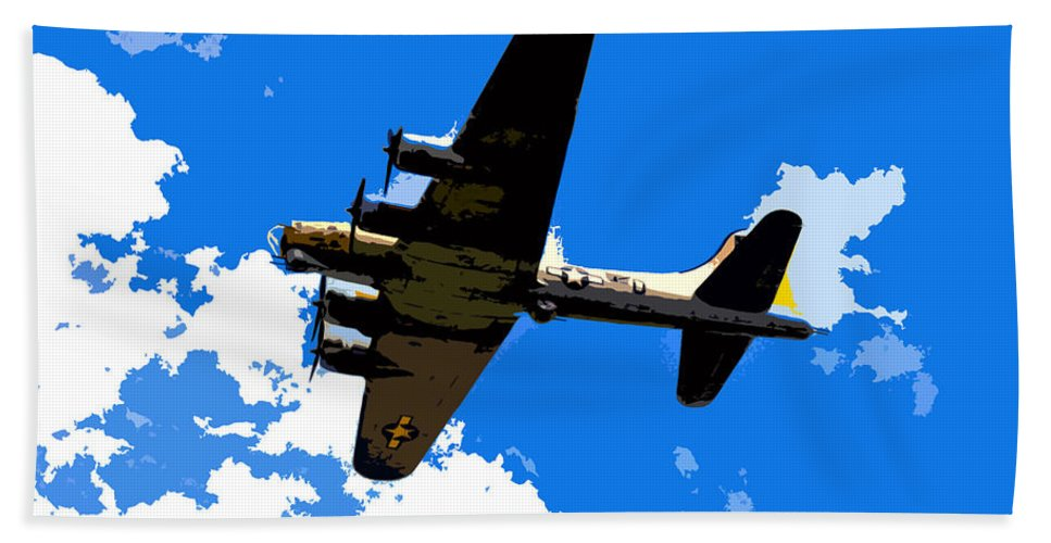 Flying Fortress Bath Sheet featuring the photograph Flying Fortress by David Lee Thompson