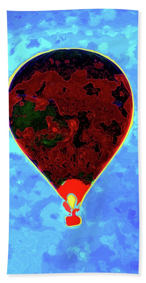 Hot Air Balloon Bath Sheet featuring the photograph Flying High - Hot Air Balloon by P Donovan
