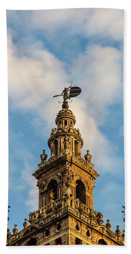 Seville Hand Towel featuring the photograph Flying Into The Clouds by Andrea Mazzocchetti