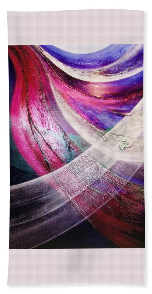Flying. Light Hand Towel featuring the painting Flying by Kumiko Mayer
