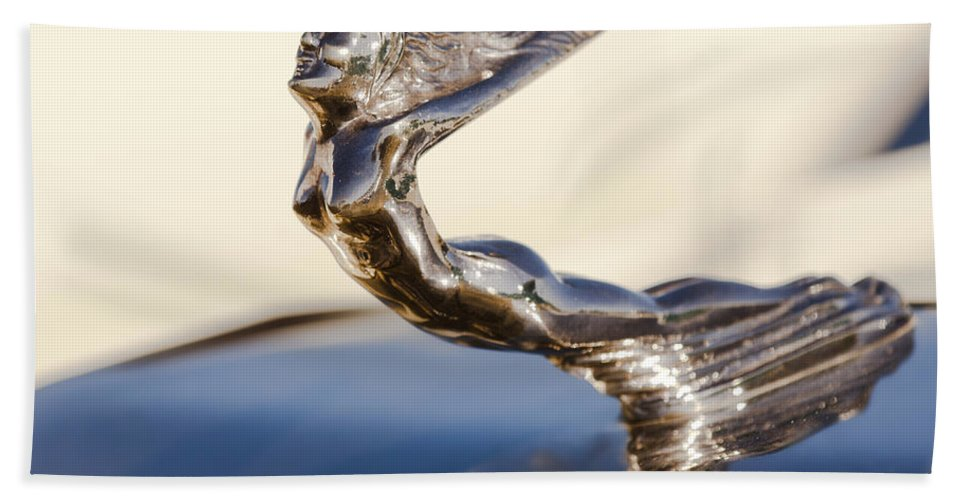 Flying Lady Bath Sheet featuring the photograph Flying Lady Hood Ornament by Jill Reger