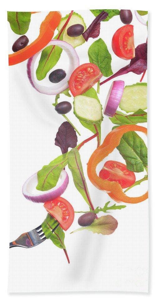 Ekaterina Molchanova Hand Towel featuring the photograph Flying Salad by Ekaterina Molchanova