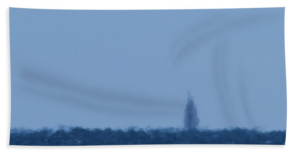 Ocean Hand Towel featuring the photograph Flying Ship by Paul Rebmann