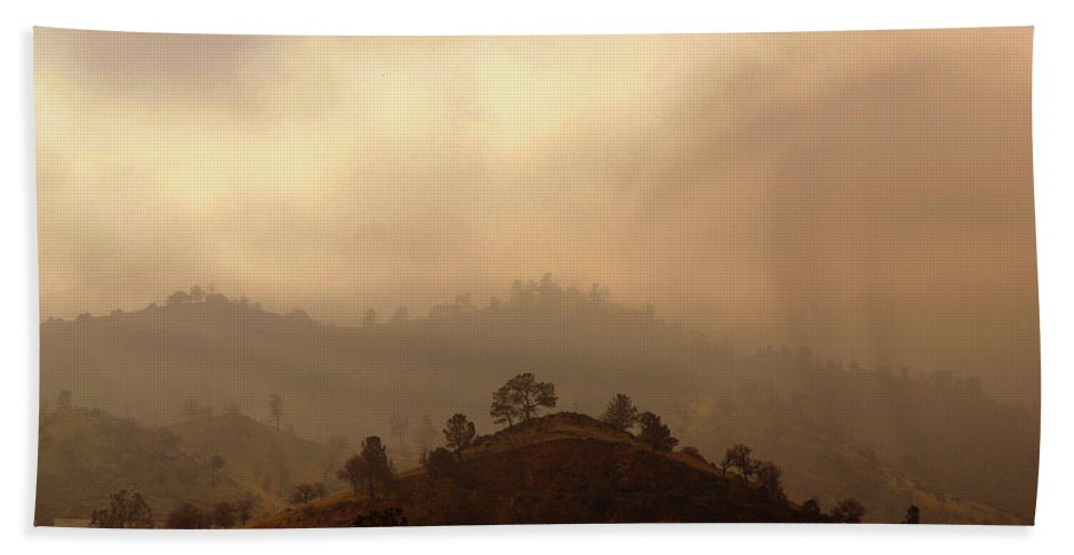 Hills Hand Towel featuring the photograph Fog In The Hills by Susanne Van Hulst