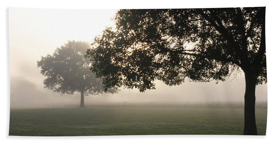 Fog Hand Towel featuring the photograph Foggy Morning by Lauri Novak