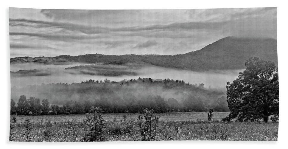 Foggy Morning Hand Towel featuring the photograph Foggy Morning by Rodney Cammauf