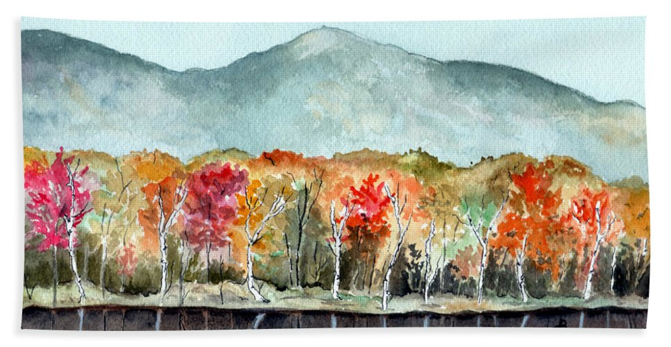 Watercolor Bath Towel featuring the painting Foliage by Brenda Owen