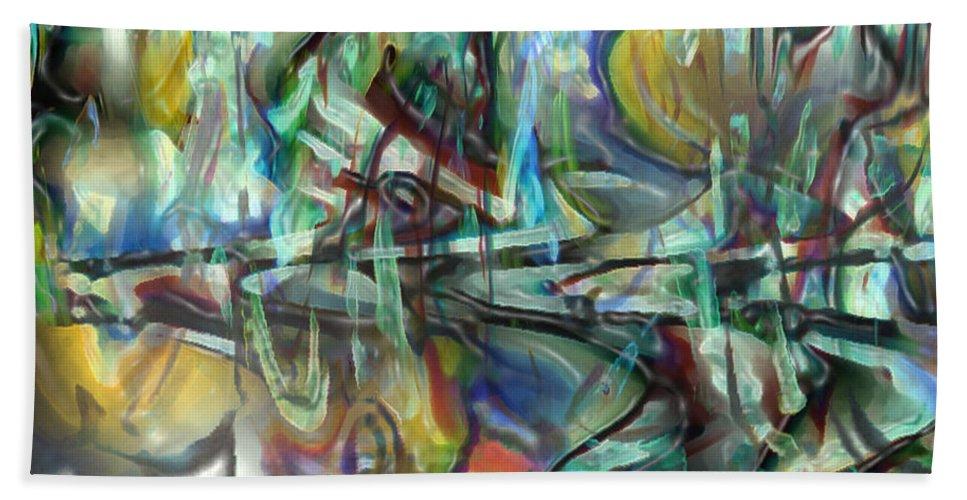 Digital Art Hand Towel featuring the digital art Follow Me Down To The Valley Below by Linda Sannuti