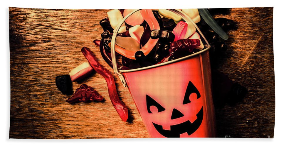 Halloween Bath Towel featuring the photograph Food For The Little Halloween Spooks by Jorgo Photography - Wall Art Gallery