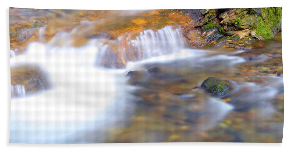 Bath Sheet featuring the photograph Foot Of Coal Creek Falls by Brian O'Kelly
