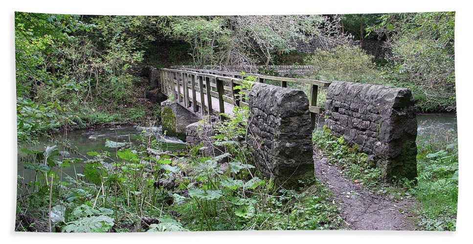 Europe Bath Sheet featuring the photograph Footbridge At Millers Dale by Rod Johnson
