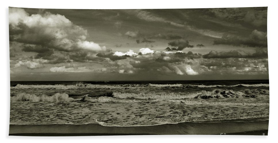 Ocean Bath Sheet featuring the photograph For Ever And Ever by Susanne Van Hulst