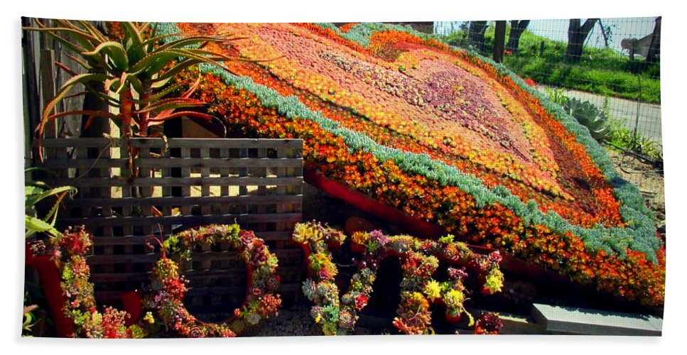 Succulent Bath Sheet featuring the photograph For The Love Of Succulents by Joyce Dickens