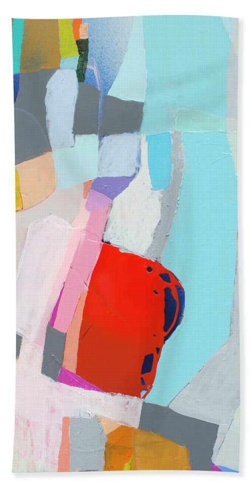 Abstract Hand Towel featuring the painting For What You Are by Claire Desjardins