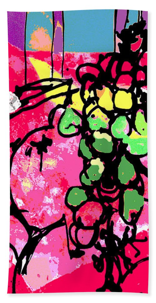 Valentine Temptation Hand Towel featuring the painting Forbidden Fruit by Betty Pehme
