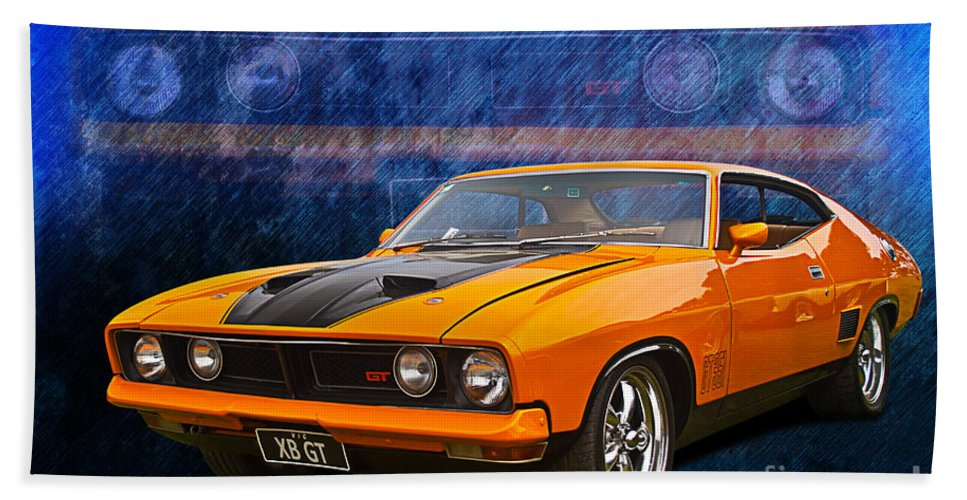 Ford Falcon Xb 351 Gt Coupe Bath Towel For Sale By Stuart Row