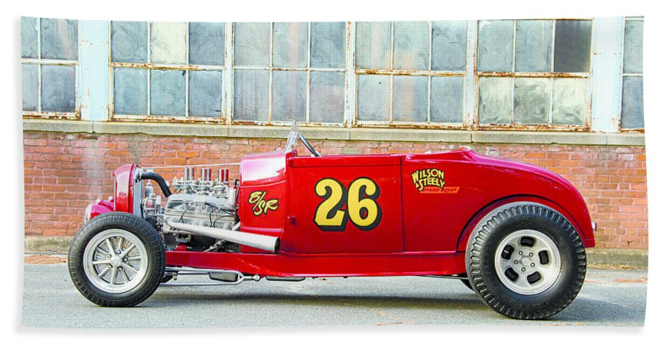 Ford Roadster Bath Sheet featuring the digital art Ford Roadster by Bert Mailer