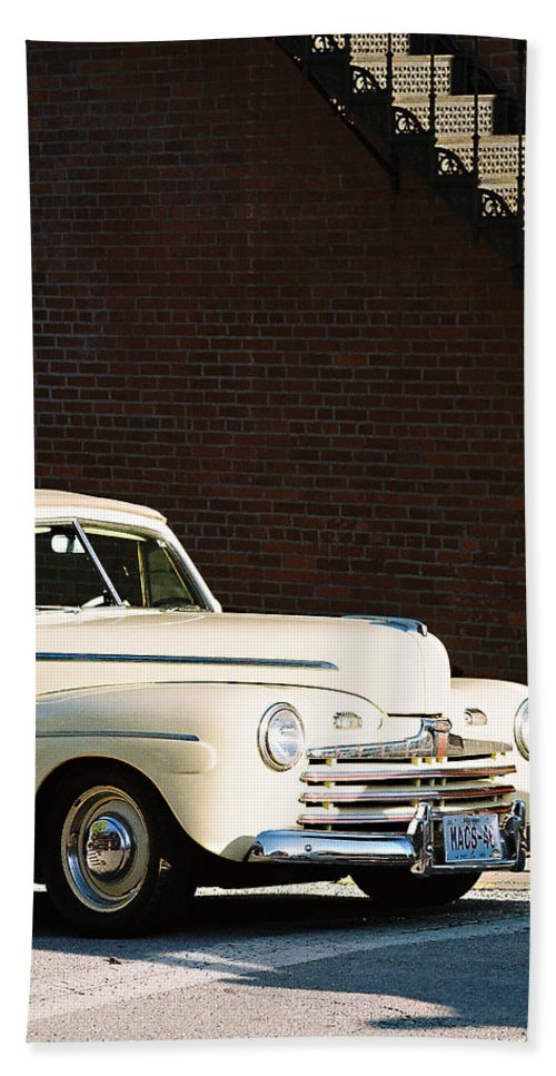 Car Hand Towel featuring the photograph Ford by Steve Karol