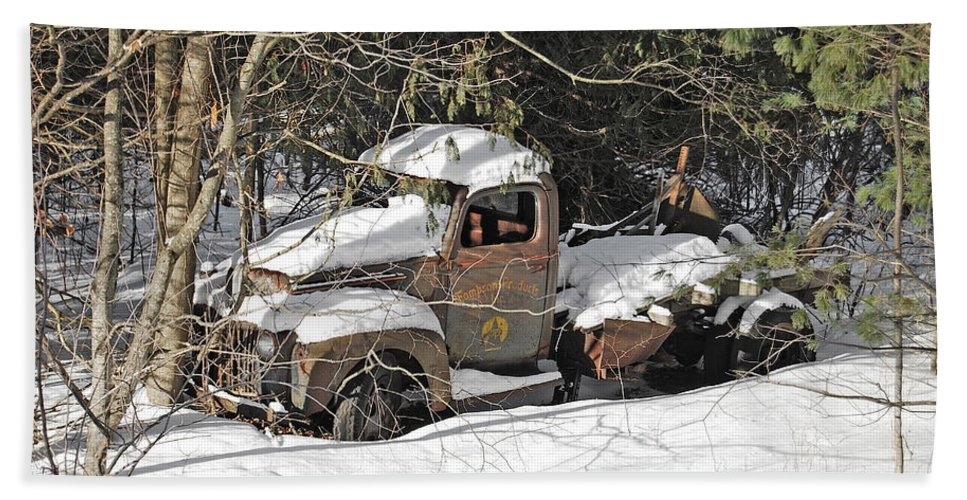Thompson Bath Sheet featuring the photograph Ford Truck by Michael Peychich
