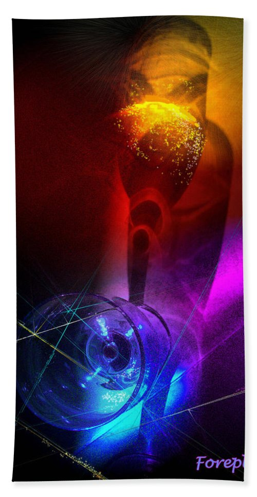 Fantasy Bath Sheet featuring the photograph Foreplay by Miki De Goodaboom